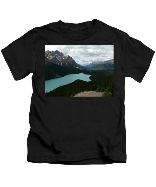 Peyote Lake In Banff Alberta Kids T-Shirt