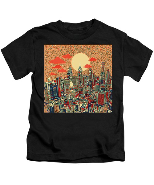 Philadelphia Dream Kids T-Shirt by Bekim Art