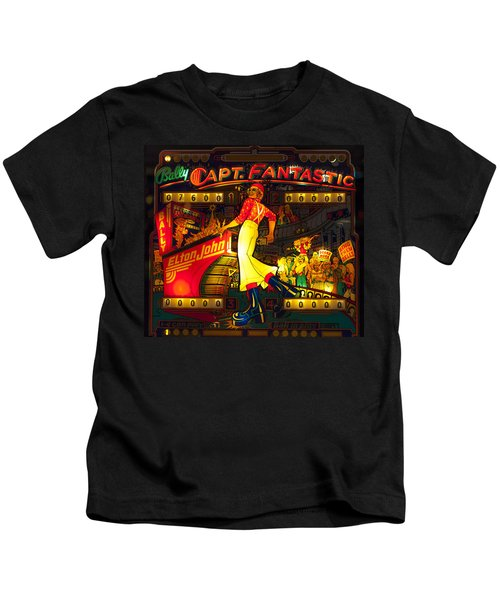 Pinball Machine Capt. Fantastic Kids T-Shirt by Terry DeLuco
