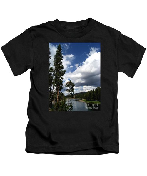 Pine On The Yellowstone River Kids T-Shirt
