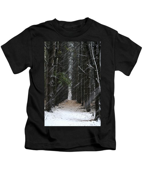 Pines In Snow Kids T-Shirt