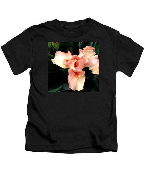 Pink Iris Kids T-Shirt