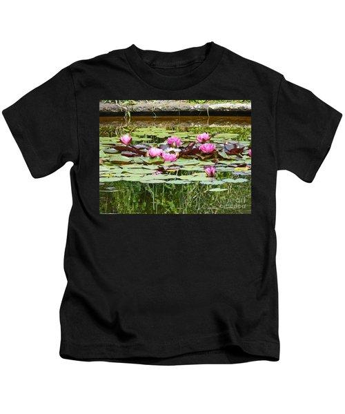 Pink Water Lilies Kids T-Shirt