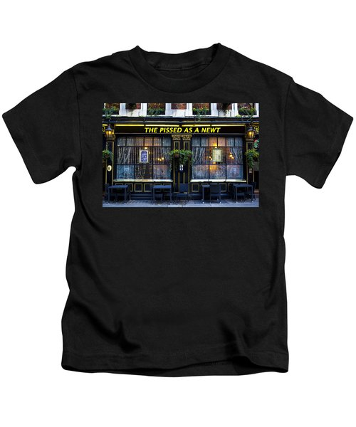 Pissed As A Newt Pub  Kids T-Shirt by David Pyatt
