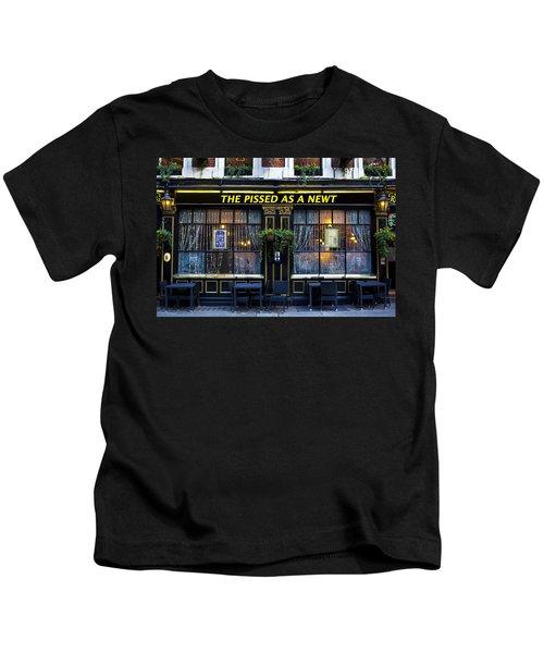 Pissed As A Newt Pub  Kids T-Shirt by David Pyatt