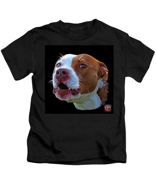 Pitbull 7769 - Bb - Fractal Dog Art Kids T-Shirt