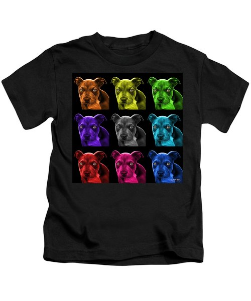 Pitbull Puppy Pop Art - 7085 Bb - M Kids T-Shirt