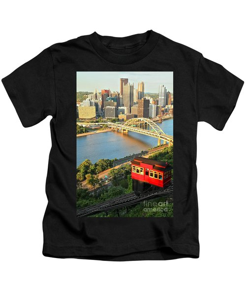 Pittsburgh Duquesne Incline Kids T-Shirt