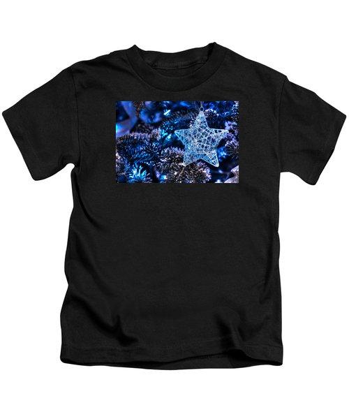 Blue Christmas Kids T-Shirt
