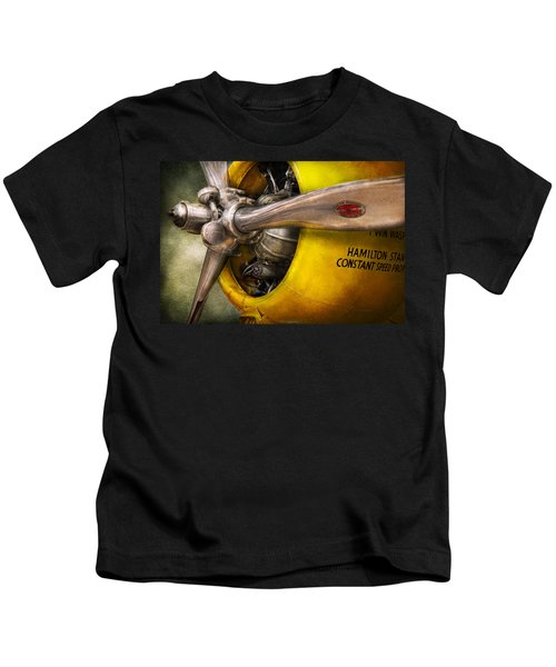 Plane - Pilot - Prop - Twin Wasp Kids T-Shirt
