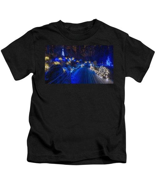 Plank Bridge - Panoramic Kids T-Shirt