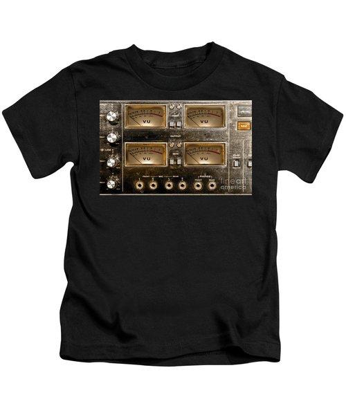 Playback Recording Vu Meters Grunge Kids T-Shirt