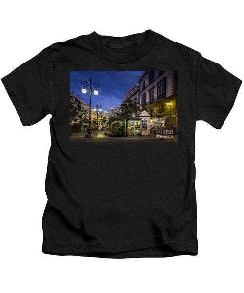 Plaza De Las Flores Cadiz Spain Kids T-Shirt
