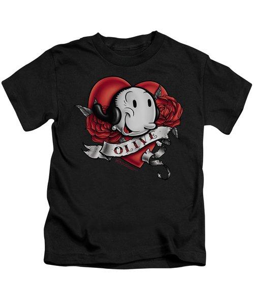 Popeye - Olive Tattoo Kids T-Shirt