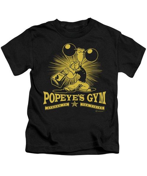 Popeye - Popeyes Gym Kids T-Shirt