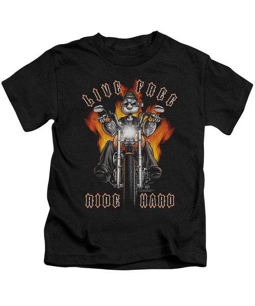 Popeye - Ride Hard Kids T-Shirt