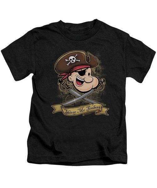 Popeye - Shiver Me Timbers Kids T-Shirt