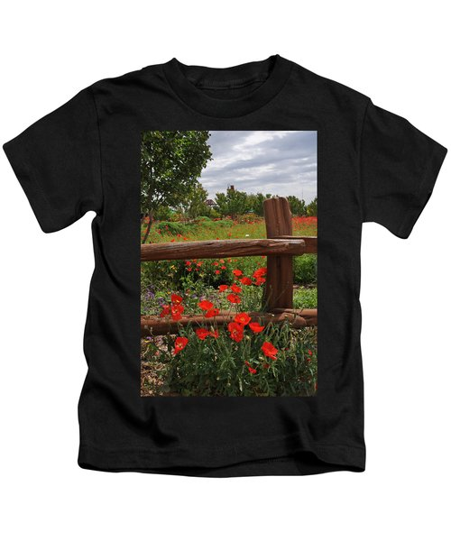 Poppies At The Farm Kids T-Shirt