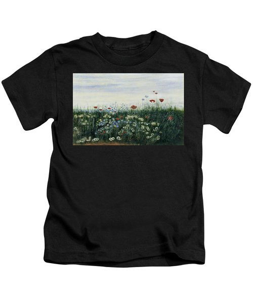 Poppies, Daisies And Other Flowers Kids T-Shirt