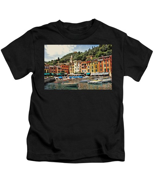Portofino Harbor 2 Kids T-Shirt
