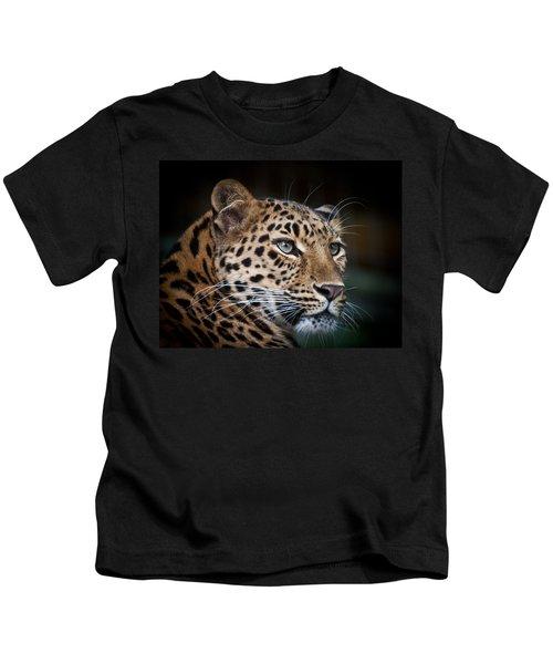 Portrait Of A Leopard Kids T-Shirt