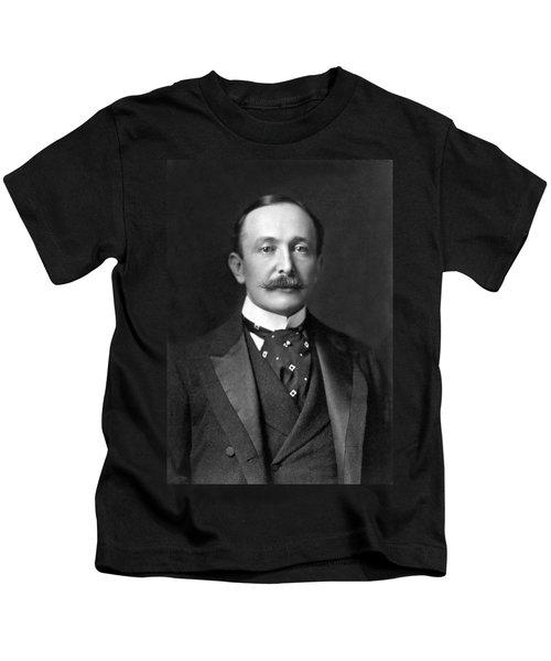 Portrait Of August Belmont Jr. Kids T-Shirt