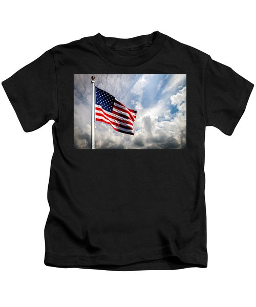Portrait Of The United States Of America Flag Kids T-Shirt