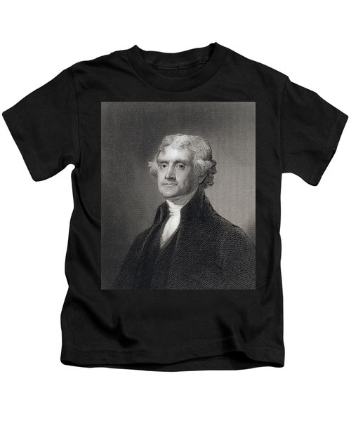 Portrait Of Thomas Jefferson Kids T-Shirt