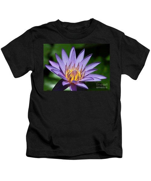 Pretty Purple Petals Kids T-Shirt