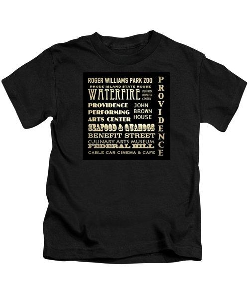 Providence Rhode Island Famous Landmarks Kids T-Shirt