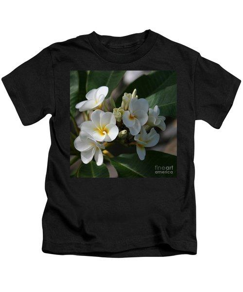 Pua Melia Na Puakea Onaona Tropical Plumeria Kids T-Shirt
