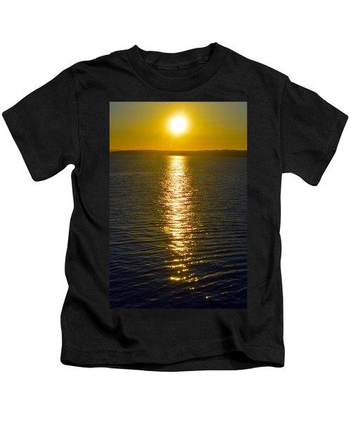 Puget Sound Sun Reflection Kids T-Shirt