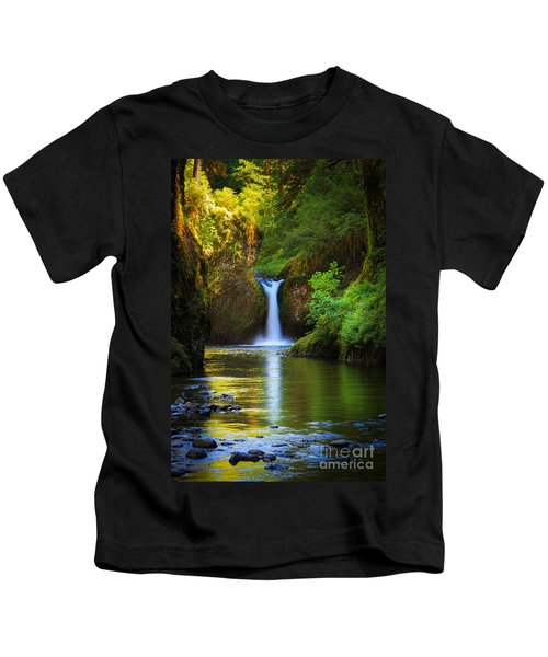 Punchbowl Falls Kids T-Shirt