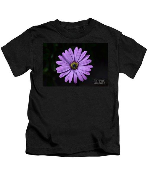 Purple African Daisy Kids T-Shirt