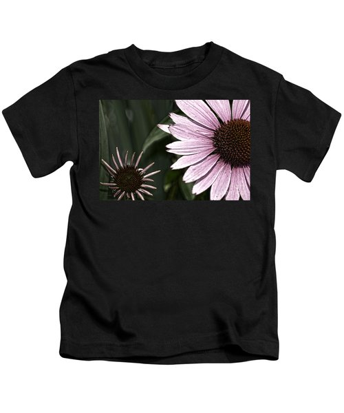 Purple Coneflower Imperfection Kids T-Shirt