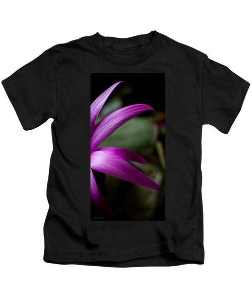 Purple Flower Kids T-Shirt