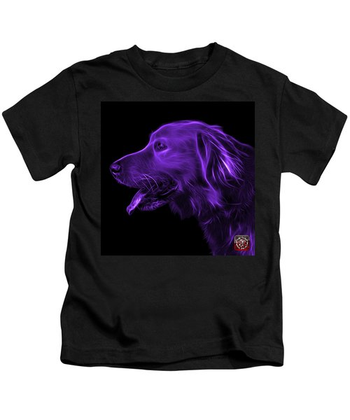Purple Golden Retriever - 4047 F Kids T-Shirt