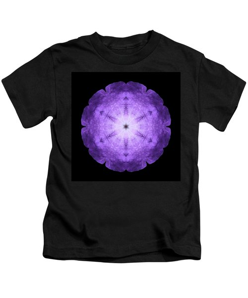 Purple Petunia I Flower Mandala Kids T-Shirt