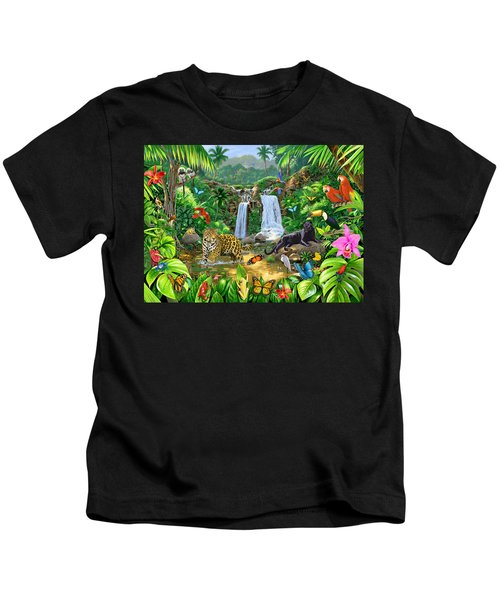 Rainforest Harmony Variant 1 Kids T-Shirt by Chris Heitt