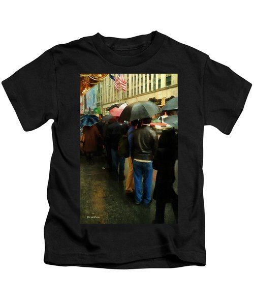 Rainy Afternoon On Broadway Kids T-Shirt