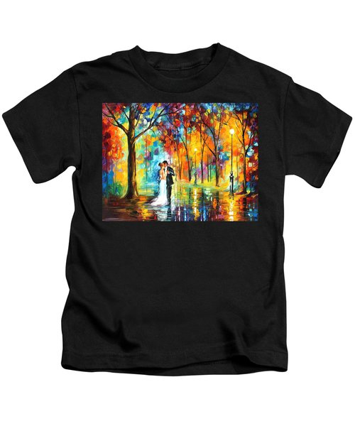 Rainy Wedding - Palette Knife Oil Painting On Canvas By Leonid Afremov Kids T-Shirt