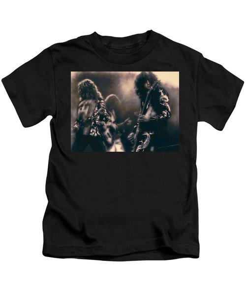 Raw Energy Of Led Zeppelin Kids T-Shirt by Daniel Hagerman