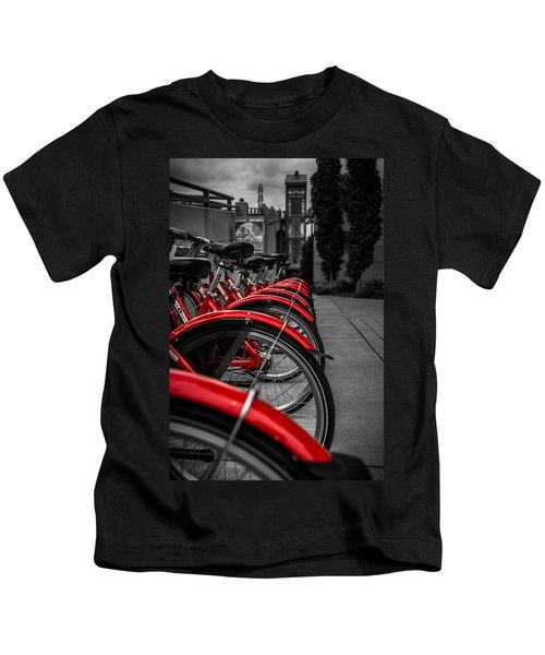 Red Bicycles Kids T-Shirt