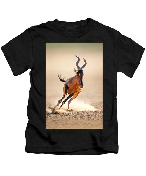 Red Hartebeest Running Kids T-Shirt