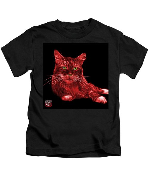 Red Maine Coon Cat - 3926 - Bb Kids T-Shirt