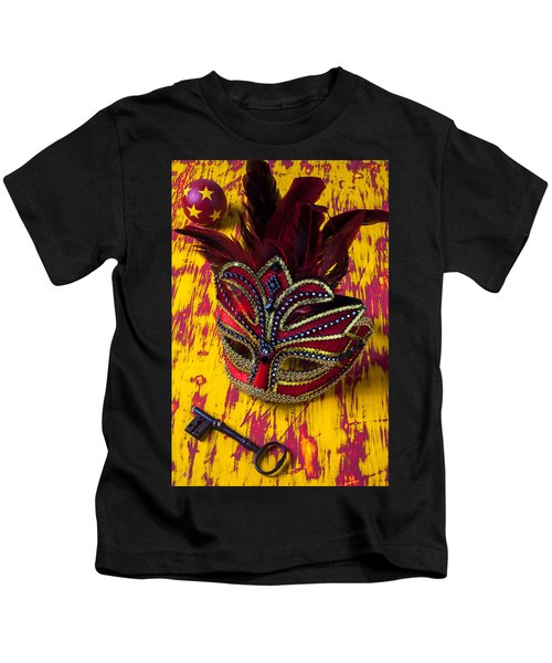 Red Mask And Key Kids T-Shirt