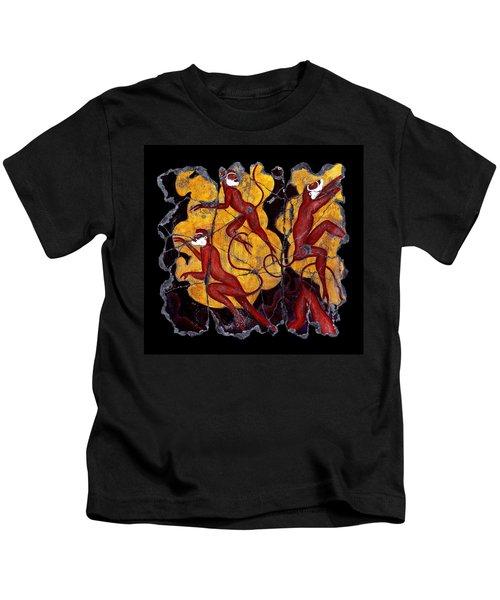 Red Monkeys No. 3 Kids T-Shirt