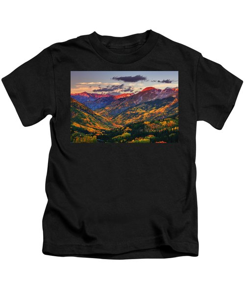 Red Mountain Pass Sunset Kids T-Shirt