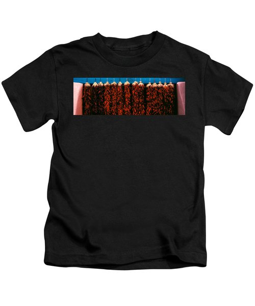 Red Peppers Drying, New Mexico, Usa Kids T-Shirt