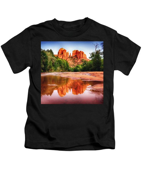 Red Rock State Park - Cathedral Rock Kids T-Shirt